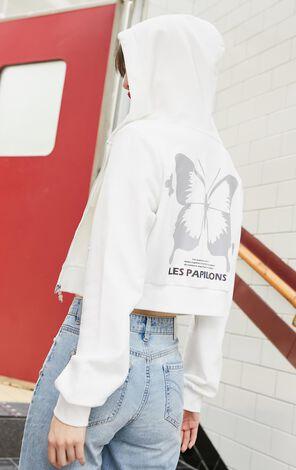 發光小蝴蝶短版連帽外套