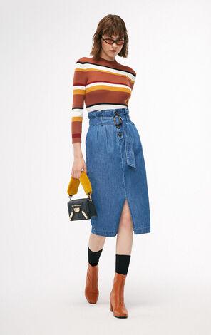秋季新款半高領修身針織衫女|118324542