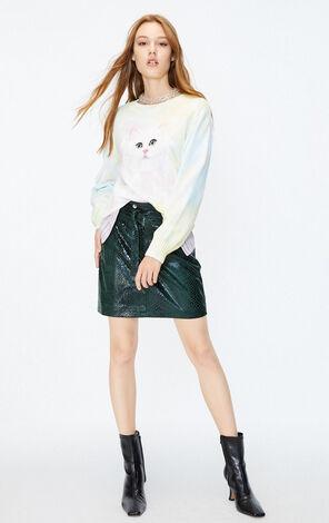 ONLY2019秋季新款彩色紮染套頭針織上衣|119324549