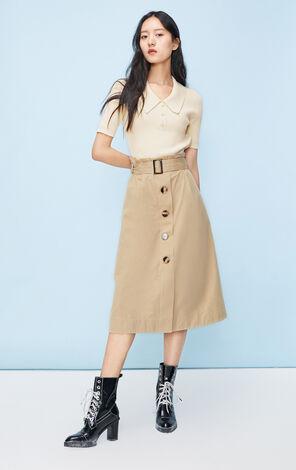 2in1法式氣質短袖針織洋裝