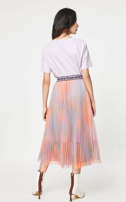 中長款百褶半身裙, 紫色, large
