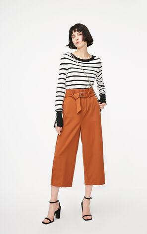 ONLY2019春季新款高腰修身寬褲(附腰帶)|11916J505