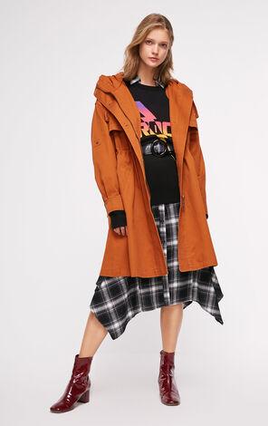 秋季新款寬鬆連帽風衣外套女|118336573