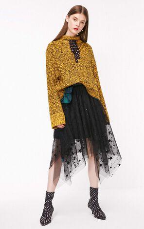 秋季新款寬鬆花色套頭針織衫女|118313561