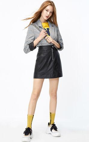 ONLY2019秋季新款PU皮短裙