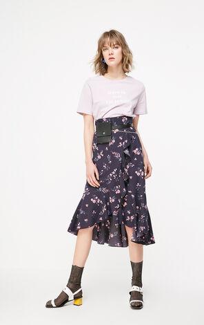 ONLY2019春季新款氣質荷葉邊雪紡半身裙