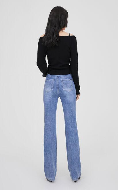性感迷人V領短款針織衫, 黑, large