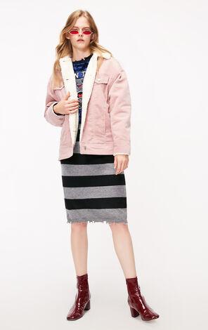 冬季新款燈芯絨翻領棉服外套女|118322511