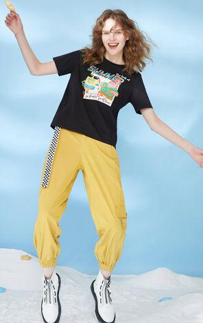 ONLY 海綿寶寶合作款印花寬鬆短袖T恤 120201509