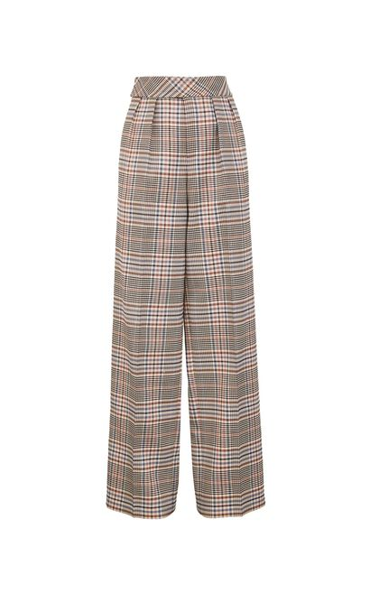 復古簡約高腰直筒休閒褲, 艷粉色, large