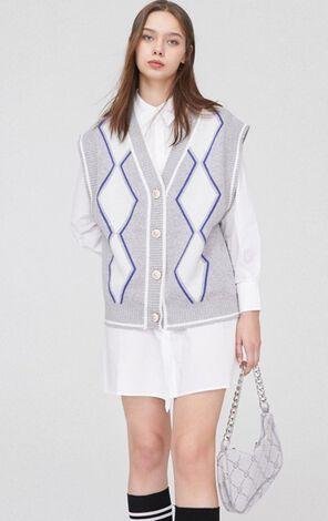 時尚甜美短款兩件式針織洋裝