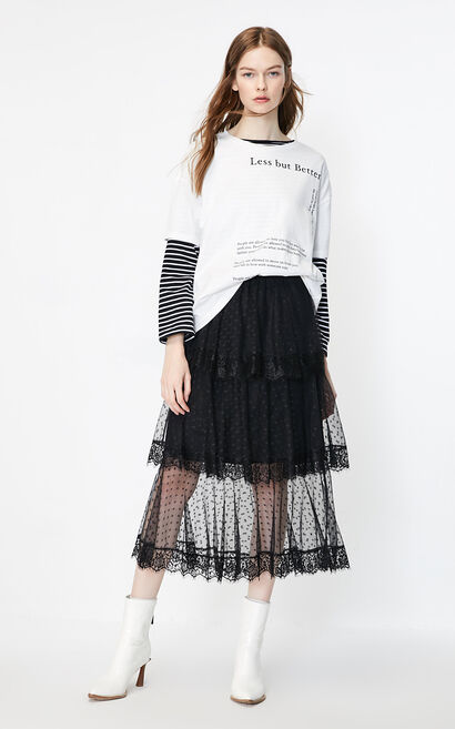 ONLY 純棉純色T恤, 白, large