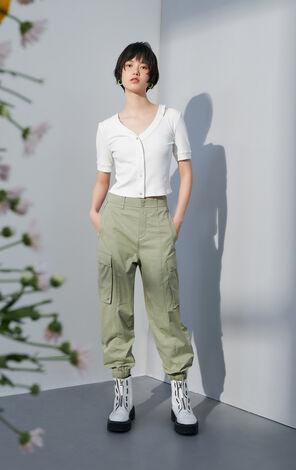 【秋冬新款】大口袋收口工裝休閒褲