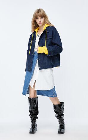 ONLY2019秋季新款連帽衛衣牛仔二件式套裝|119354510