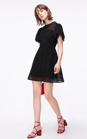 ONLY2019夏季新款收腰A字雪紡洋裝|119107653