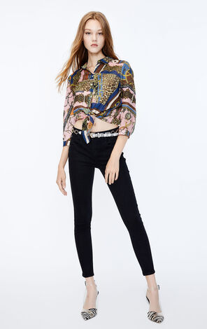 ONLY2019秋季新款黑色低腰合身九分牛仔褲|119349549
