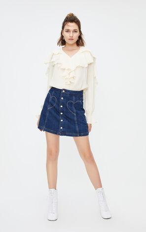ONLY2019秋季新款A字牛仔短裙 119337521