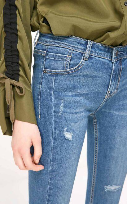 ONLY2019春季新款chic低腰合身九分牛仔褲|119149602, 藍, large