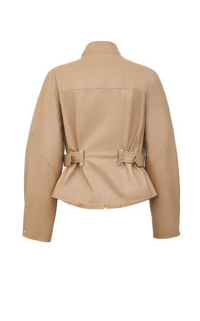 【冬季新款】羊皮收腰短款皮衣外套, 棕色, large