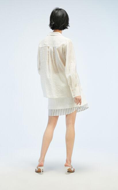 奶油白百搭通勤襯衫, 白, large