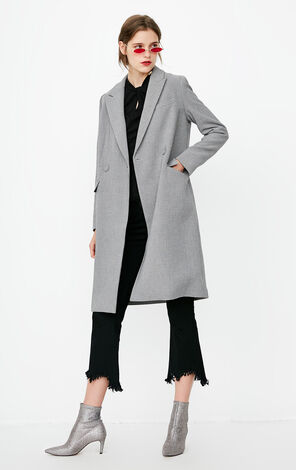 冬季新款西裝領風衣中長款女|118336540