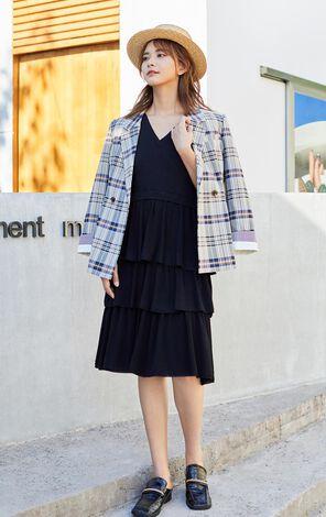 【秋冬新款】輕鬆斜襟針織收腰洋裝