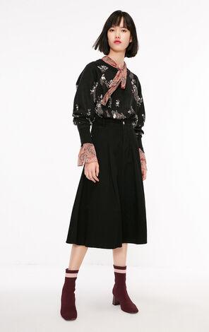冬季新款金屬亮絲圓領毛衣針織衫女|118324525