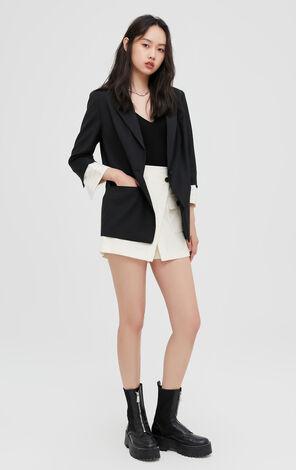 職場簡約專業風格氣質黑色西服外套