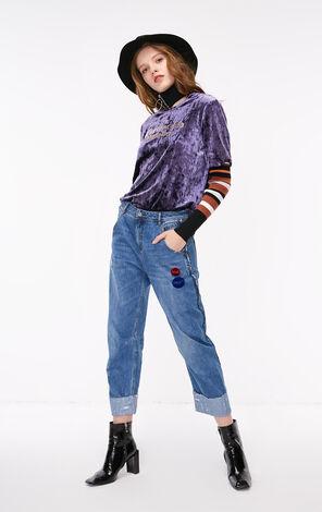 秋季新款低腰BF風牛仔褲女|118349638