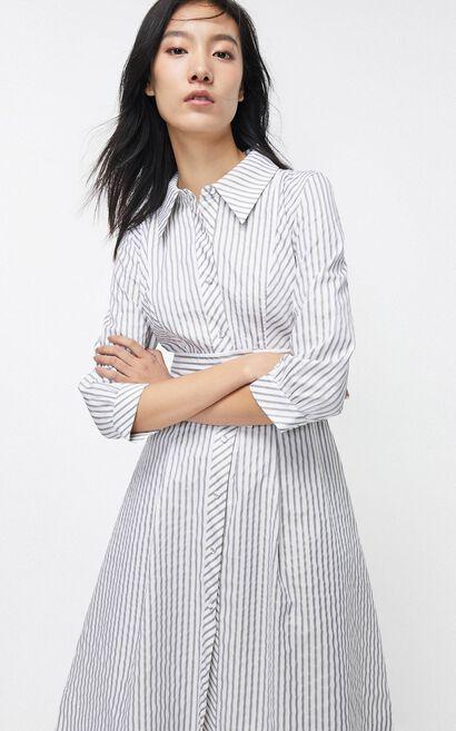 法式收腰氣質A字桔梗洋裝, 白, large