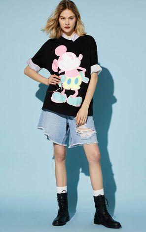 迪士尼米奇寬鬆短袖T恤