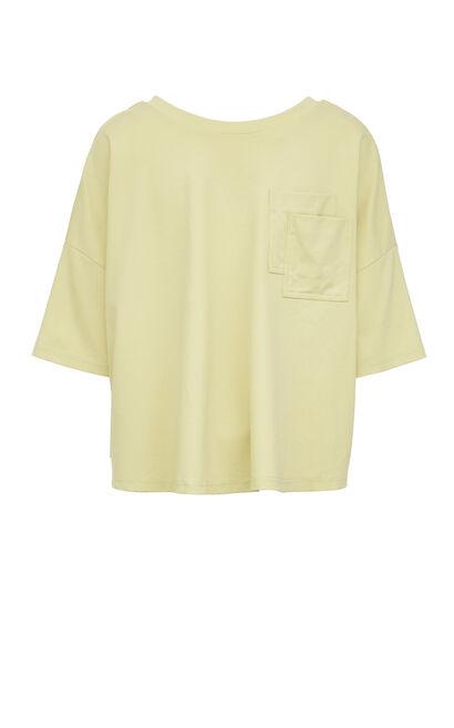 V領闊型英文字印花上衣, 淺綠, large