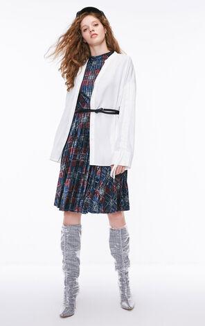 冬季新款寬鬆抽繩V領襯衫女|118331517