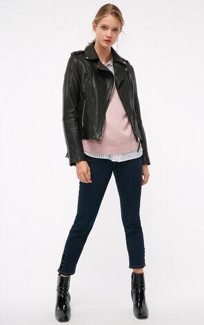 冬季新款高腰小皮衣短款夾克女|118310510