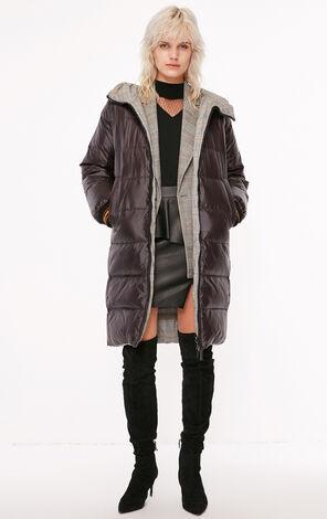 冬季新款兩面穿拉鍊連帽羽絨服女|118312553