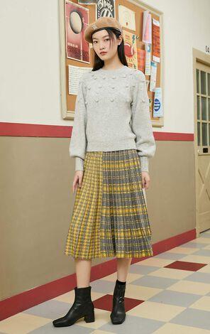 Q感毛球羊毛針織上衣