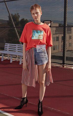 ONLY2019夏季新款印花寬鬆純棉半袖T恤|119201608
