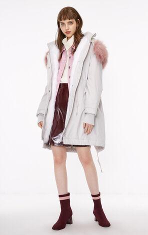冬季新款毛領抽繩棉服外套女|118322505