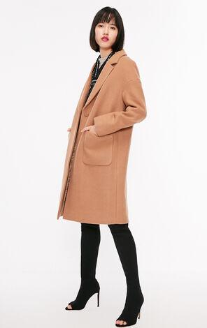 冬季新款含羊毛一粒扣毛呢外套女|11834S542