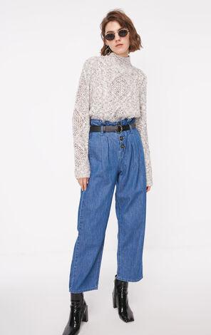 冬季新款半高領毛線針織衫女|118313511