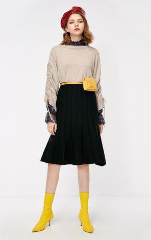 冬季新款純色針織半身裙女 11831J501