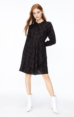 ONLY2019秋季新款格紋長袖洋裝 119307555