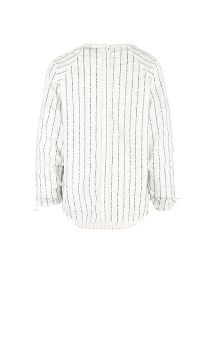 白色寬鬆男友風設計感襯衫, 白, large