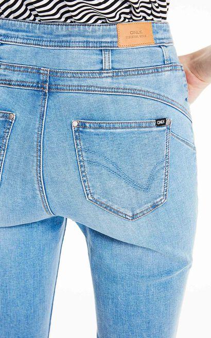 ONLY2019夏季新款高腰緊身彈力九分牛仔褲|119249509, 水藍色, large