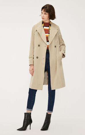 英倫復古收腰長版風衣外套