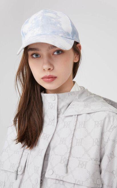 時尚潮流短款抽繩連帽外套, 藍, large
