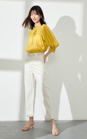 ONLY 復古泡袖寬鬆襯衫|120251503