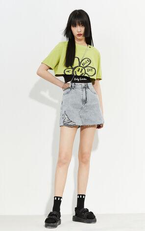 時尚潮流高腰修身顯瘦牛仔裙褲