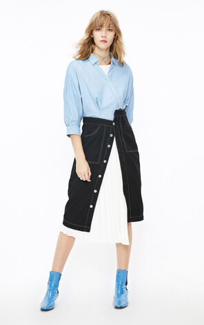 ONLY2019秋季新款收腰短版牛仔薄襯衫|119362501