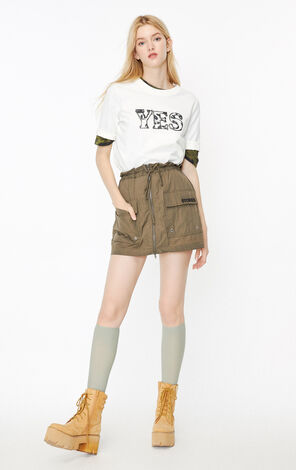 ONLY2019秋季新款白色英文字印花寬鬆T恤|119330512